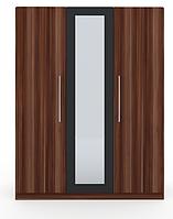 Шафа (шкаф) з ДСП/МДФ в спальню/вітальню/дитячу Martina H 3-х дверна слива венгерська+графіт Blonski