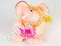 Мягкая игрушка Ежик с сердцем, музыкальная