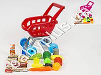 Тележка-супермаркет, продукты, 2 вида, в кор-ке