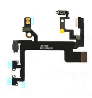 Шлейф (Flat cable) iPhone 5S с кнопкой включения,  кнопками громкости и микрофоном