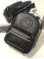 Стильный женский кожаный рюкзак Gucci (реплика)