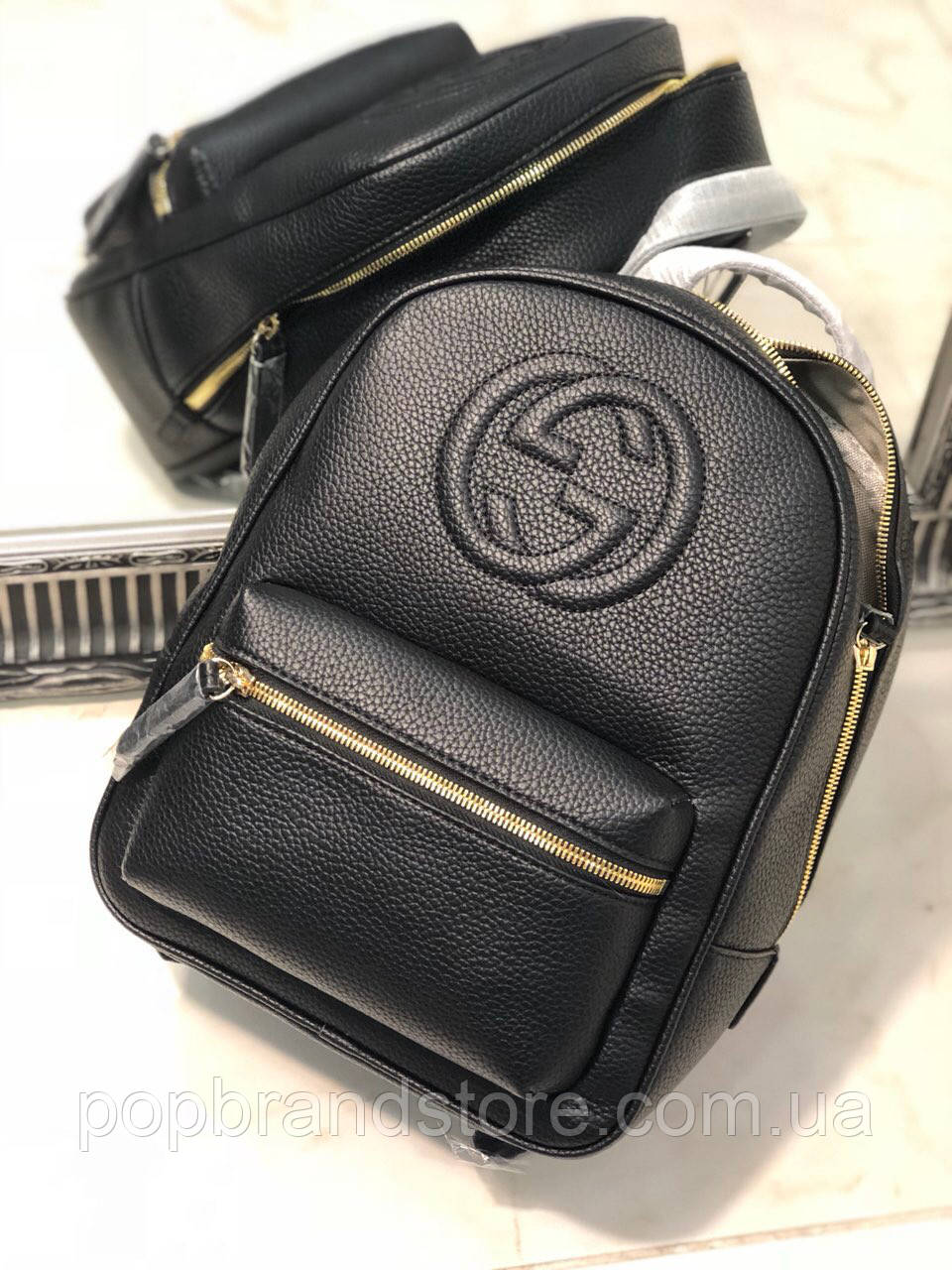 b16e5ec2d1f7 Стильный женский кожаный рюкзак Gucci (реплика) - Pop Brand Store |  брендовые сумки,