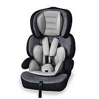Автокресло JUNIOR PREMIUM 9-36 KG для детей 1-12 лет (мягкий вкладыш, ремни безопасности, бустер) ТМ Lorelli Серый