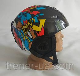 Горнолыжный шлем Lidakis черный с рисунком