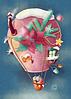 """Открытка """"Воздушный шар"""""""