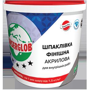 Шпаклевка финишная акриловая (супербелая готовая)  1,5 кг ANSERGLOB