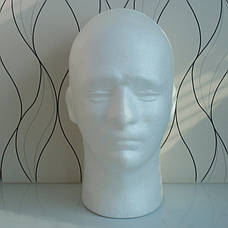 Манекены головы из пенопласта для шапок, париков, очков, рисования, фото 2