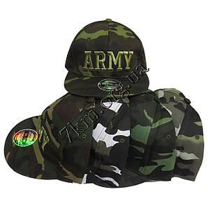 Кепка реперка подростковая Army 56 р. хлопок Оптом 5267