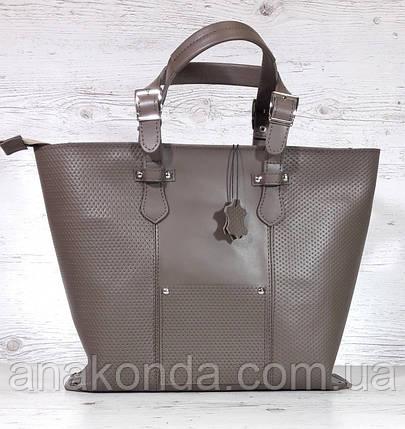 c956b7c6d4a6 02 Натуральная кожа, Большая сумка женская, тауп (кофейный, холодный  песочный, ...