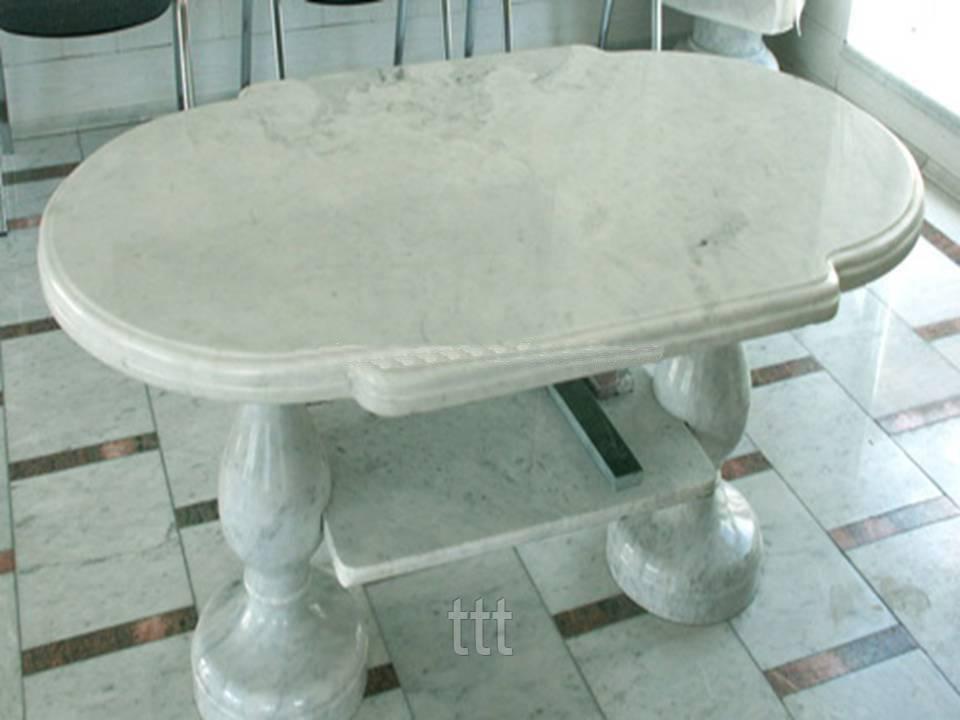 Овальный стол из мрамора № 10