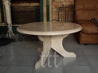Стол  круглый из мрамора № 5
