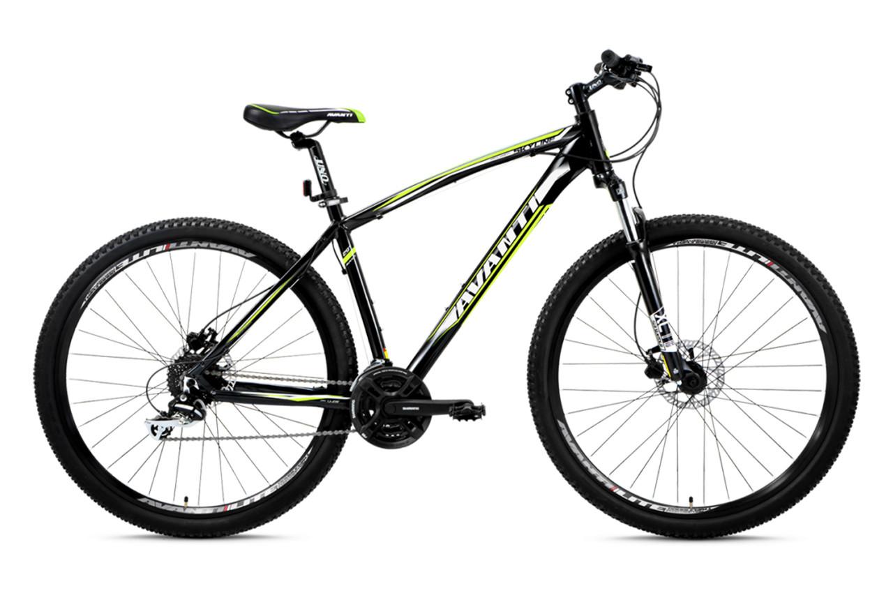 """Горный велосипед AVANTI SKYLINE 26"""", 21""""  Черный/Зеленый"""