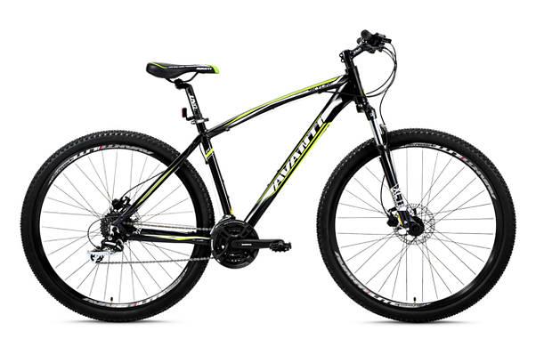 """Горный велосипед AVANTI SKYLINE 26"""",17""""   Черный/Зеленый"""