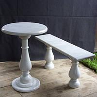 Стол и скамейка на кладбище № 2