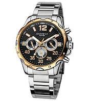 Часы мужские Eyki original steel мультифункциональные черные с золотым