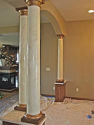Мраморная колонны в дом, котедж, сад № 2