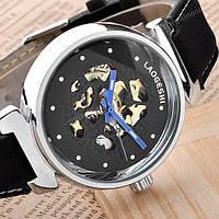Механические часы New Laogeshi Skeleton Black
