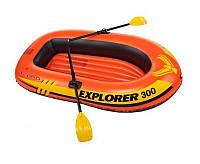 Надувная лодка Explorer 200 Pro Set Intex до 120 кг