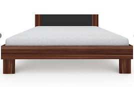 Ліжко з ДСП/МДФ в спальню Martina Z 1,8x2,0 слива венгерська+графіт Blonski