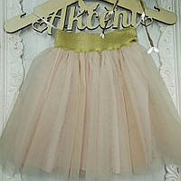 Праздничная детская юбка для маленьких принцес из евросетки с подкладкой