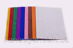 Фоамиран с блестками: 2 мм, 10 листов, А4