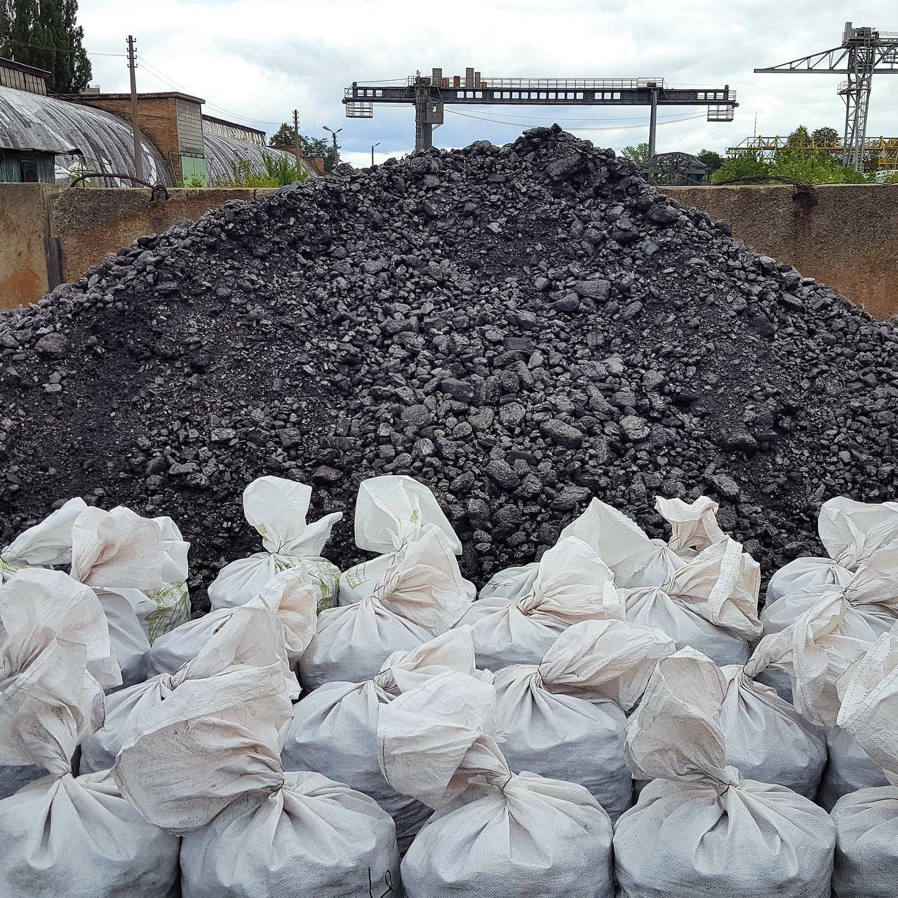 Вугілля антрацит в мішках доставка по Києву та області
