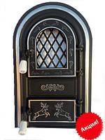 Печные дверцы со стеклом, фото 1
