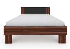 Ліжко з ДСП/МДФ в спальню Martina Z1 1,4x2,0 слива венгерська+графіт Blonski