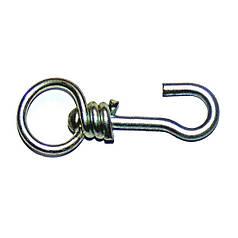 Вертушка средняя с крючком круглая оцинкованная - вертлюг для привязи скота (КРС)