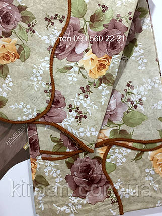 """Скатерть-клеёнка для кухни """"Волна"""" 80х130 (V110026) Мелкие розы, фото 2"""