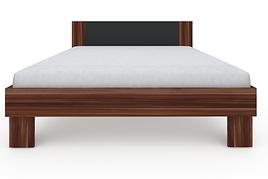 Ліжко з ДСП/МДФ в спальню Martina Z2 1,6x2,0 слива венгерська+графіт Blonski