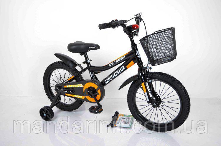 """Велосипед INTENSE 16"""" N-200 чорно-помаранчевий"""