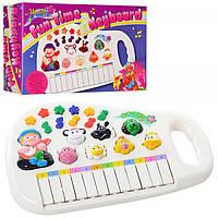 Пианино детское со звуко и светоигрой на батарейках Profi (M 0381 U/R)