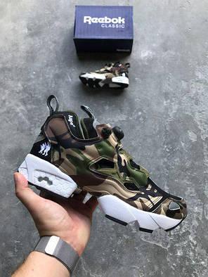 Женские кроссовки в стиле Reebok Insta Pump Fury OG Bape x Mita 'Camo' (37, 38, 39, 40 размеры), фото 2