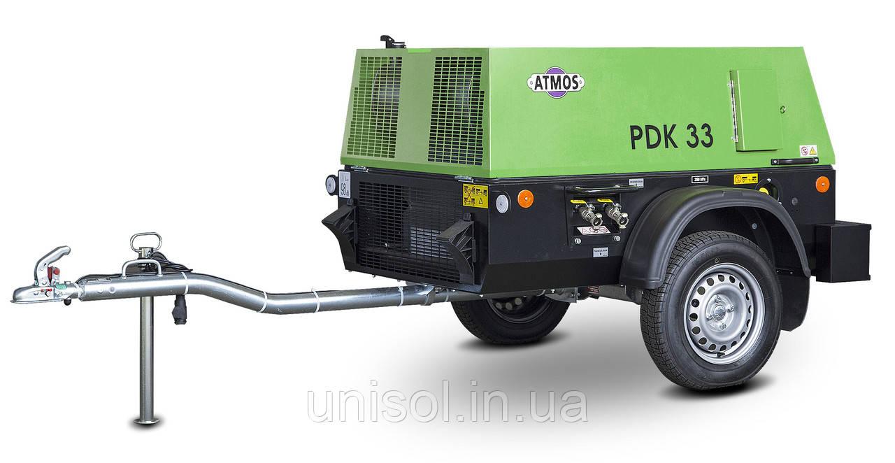 Передвижной дизельный компрессор ATMOS PDK 33