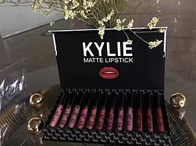 Набор стойких матовых жидких помад 12 штук Kylie Matte Lipstick (набор кайли)