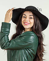 Шляпа широкополая (черная)