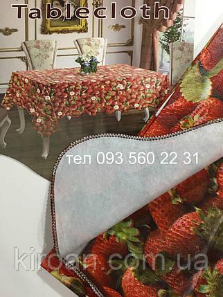 "Скатерть-клеёнка для кухни ""Волна"" 80х130 (V110027) Клубника, фото 2"