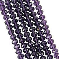 Бусины под Хрусталь Фиолетовый аметист Рондель 4 мм 150 шт/нить