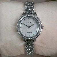 Наручные кварцевые часы Gucci 3305 silver