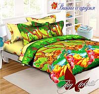 Комплект постельного белья для детей Винни и друзья  (ДП евро-022)