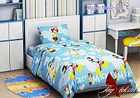 Комплект постельного белья для детей Mickey Mouse blue (ДП евро-053)