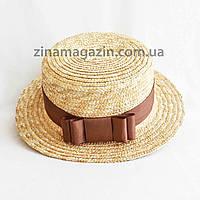Шляпа канотье с бантом