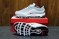 Кроссовки Nike Air Max 97 silver reflective / Найк Аир Макс серые серебро рефлектив светящиеся