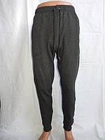Спортивные мужские штаны, CREPE на байке с манжетам (т. серый) 004
