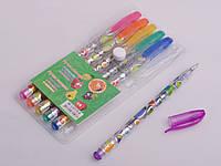 Набір ручок гелевих з блиском, арома, 6 кольорів
