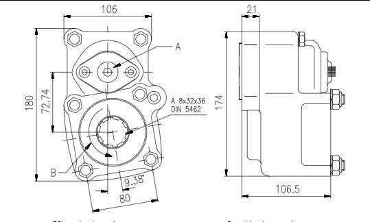 Коробка відбору потужності FHER Iveco задня, 1:1,35