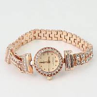 Женские наручные часы King Girl #1 золотистые с камнями
