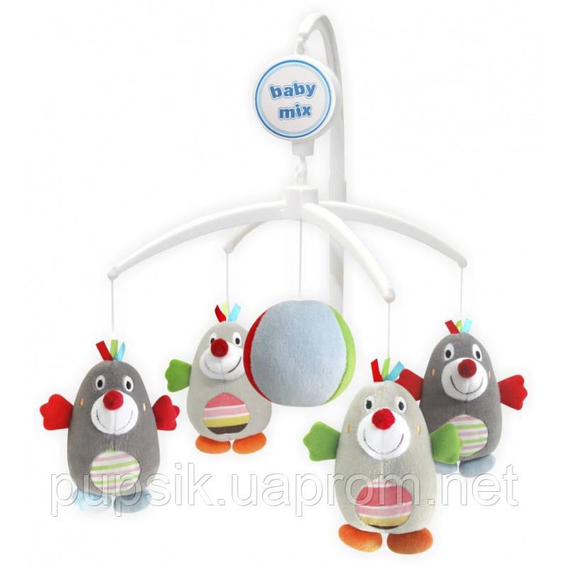 Музыкальный мобиль Baby Mix 350М Пингвины (Мягкие игрушки)