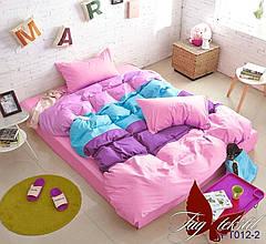Комплект постельного белья ТМ TAG семейный, постельное белье семейное Color mix APT012-2